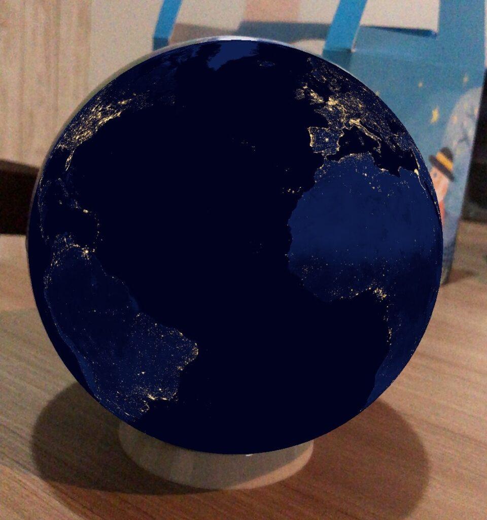 宇宙から見たヨーロッパアフリカ